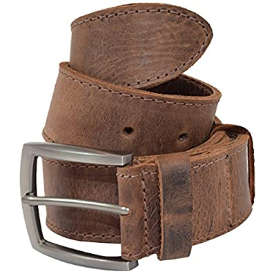 Thick Leather Belt With Hidden Pocket Handmade by Hide & Drink :: Bourbon Brown (Size 36)
