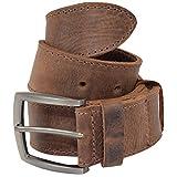 Hide & Drink, Thick Leather Belt With Hidden Pocket Handmade :: Bourbon Brown (Size 38)