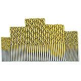 YWSZJ Juego de Brocas con Revestimiento de Titanio de Acero de Alta Velocidad 1/1,5/2 / 2,5 / 3mm Herramienta eléctrica de Broca helicoidal de carburo de tungsteno con vástago Hexagonal 1/4