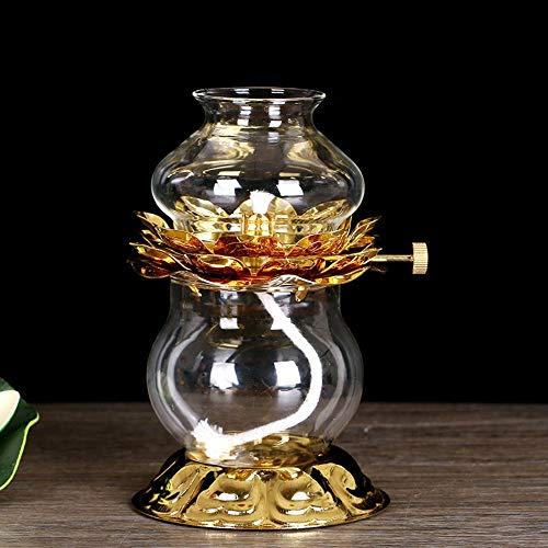 LWJPP Mini lámpara de keroseno Ocho auspiciosos Esmalte de Color Lámparas de Aceite de Calabaza Linterna Inicio Lotus Mantequilla Buda lámpara for la lámpara Que acampa pequeñas Luces de 11 * 14cm