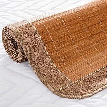WXH Tapis Bamboo Mat Famille Été Pliant Double Face Tapis Bambou Simple Dortoir Étudiant (Taille : 1.8m×2m)