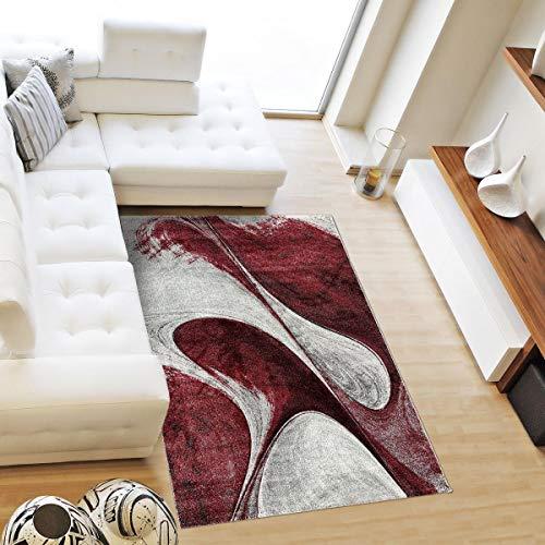 UN AMOUR DE TAPIS 60x110 MADILA - - Tapis Moderne Design Tapis Salon et entrée Tapis - Tapis Bordeaux - Couleurs et Tailles Disponibles