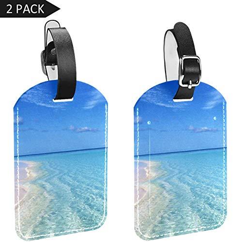 LORVIES Blue Sea Cool Zomer Bagage Tags Reizen Labels Tag Naam Kaarthouder voor Bagage Koffer Tas Rugzakken, 2 PCS
