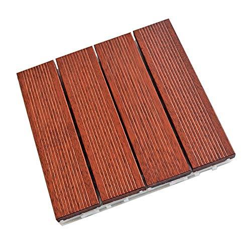 Balkon Boden - 4 Spliced Ananas Lattice Balkon Bodenschnapp genähtes Holzboden Geeignet for Innen- und Außenanwendungen (Color : 1pcs, Size : 300x300x30mm)