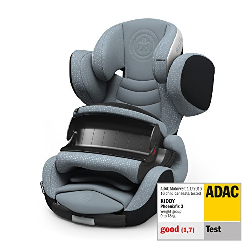 Kiddy Phonenixfix 3 Siège auto Groupe 1 (groupe 1) 9 ans à 4 ans (env. 9 kg - 18 kg avec Isofix Collection 2019 Moon Grey