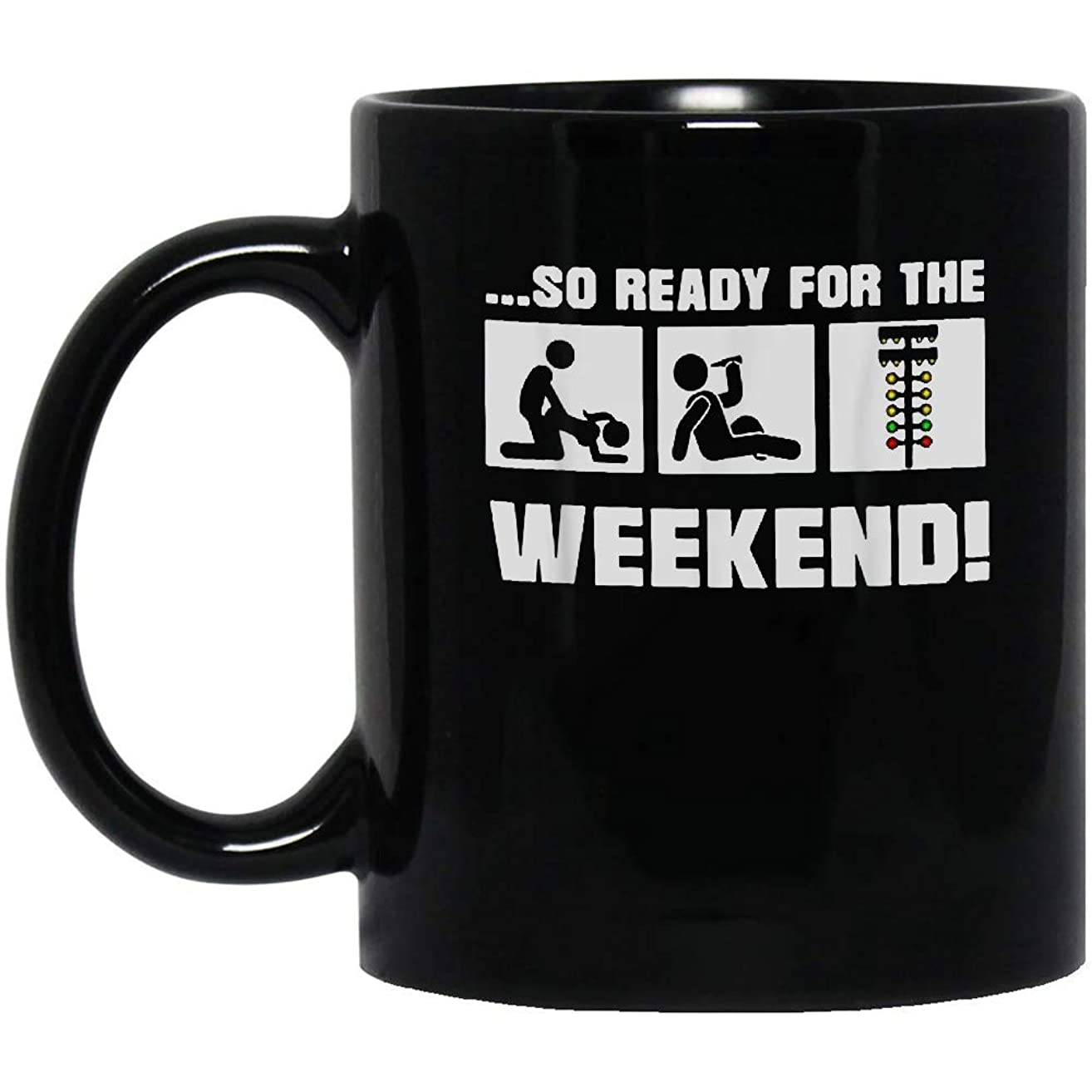 Fuck Beer Mechanic So Ready For The Weekend Black Mug, 11oz