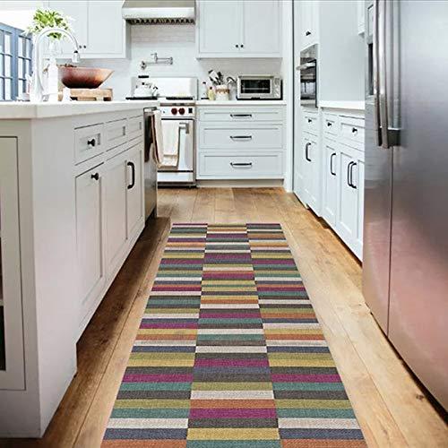 Tapete Passadeira de Cozinha Multicolor Antiderrapant-40x120