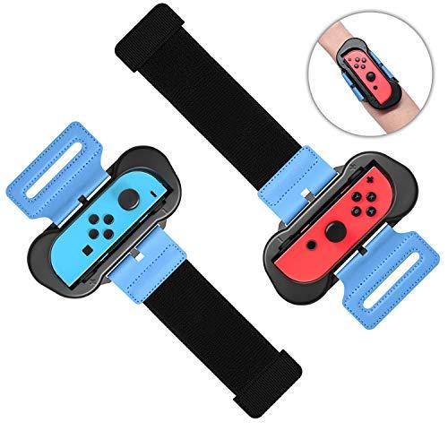 FASTSNAIL Armband Dance Grips für Just Dance 2021/2020/2019 und Zumba Burn it Up, Armbinden Gurt Wrist Band Straps Griffe für Nintendo Switch Joy-Con Controller
