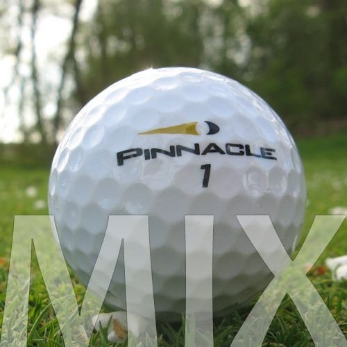 100 Pinnacle Mix lakballes/golfballen - kwaliteit AAA/AA - in nettas