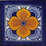 30 Azulejos mexicanos 10 x 10 cm Azulejos de cocina y baño de Talavera Decoración para baño, ducha, escaleras, cocina Azulejos de pared posterior Pegatinas Pintadas a mano (Fargo)