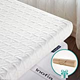 Inofia Mattress Topper, ECOGRREN 6CM Memory Foam Mattress Topper with Washable Tencel Cover, Dual Layer to Soften Any Sleep Surface -/100Night Test at NO Risk (Double(135x190cm))