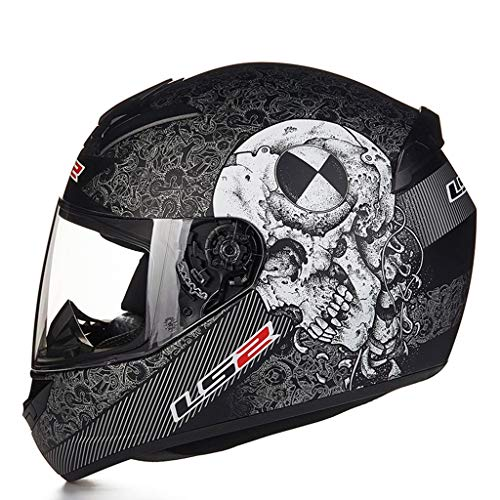 XJLXX Casco ABS, Casco Integral De Bicicleta De Motocicleta, Casco De Sombrilla Desmontable Casco (Color : B, Size : XXL)