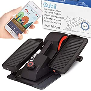 Cubii Pro - Seated Under-Desk Elliptical - Get Fit While You Sit - Bluetooth Enabled, Sync with Fitbit and Apple HealthKit - Whisper-Quiet - Adjustable Resistance - Easy to Assemble by Fitness Cubed, Inc.