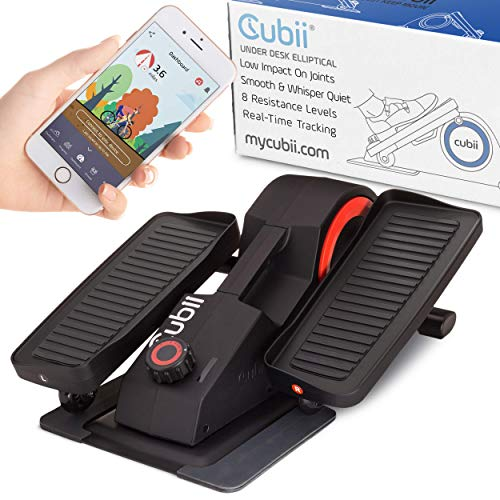 Cubii Pro - Seated Under-Desk Elliptical - Get Fit While You Sit - Bluetooth Enabled, Sync with Fitbit and Apple HealthKit - Whisper-Quiet - Adjustable Resistance - Easy to Assemble (Black)