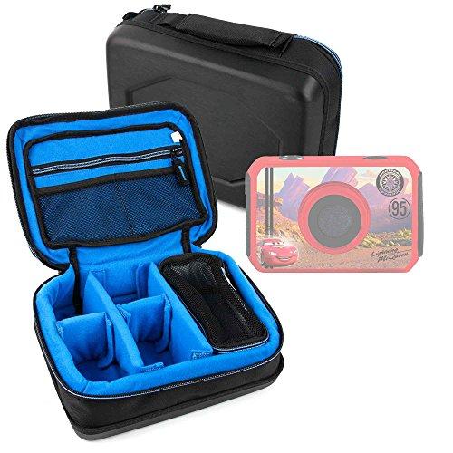 DURAGADGET Bolsa Acolchada Profesional Negra con Compartimentos para cámara de niño Ingo Devices Hello Kitty | Minni | Violetta | Sakar Hello Kitty