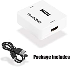 ESnipe Mart VGA to HDMI Full HD Video 1080P Audio Converter Adapter for PC Laptop DVD TV (White) - 1 Year Warranty