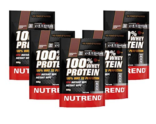De proteína de suero Nutrend 100% Chocolate & Cocoa por Nutrend 500g espectro perfecto de aminoácidos con alto valor biológico en este producto de vanguardia