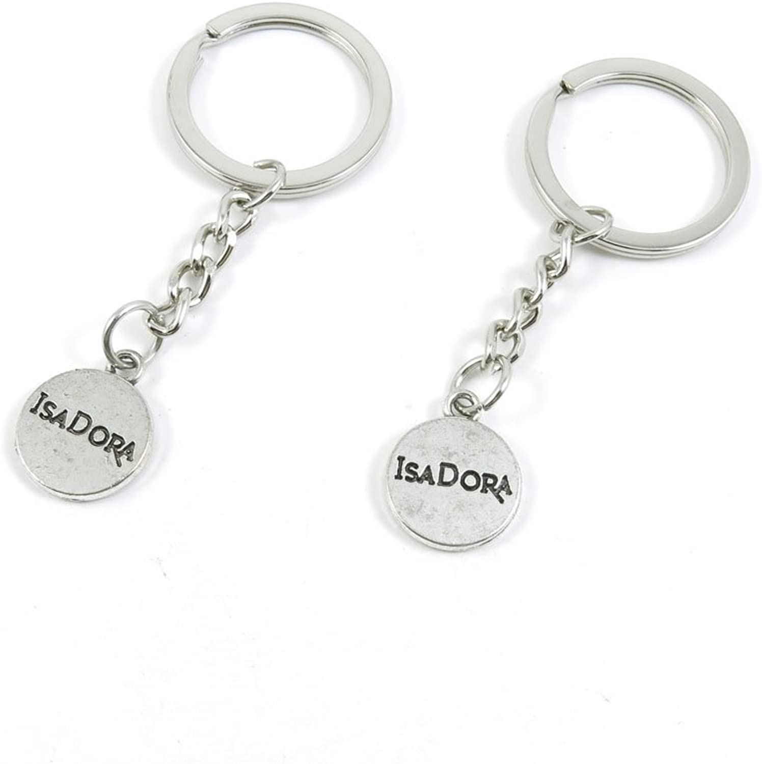 100 Pieces Keychain Keyring Door Car Key Chain Ring Tag Charms Bulk Supply Jewelry Making Clasp Findings U4XE4X Isadora