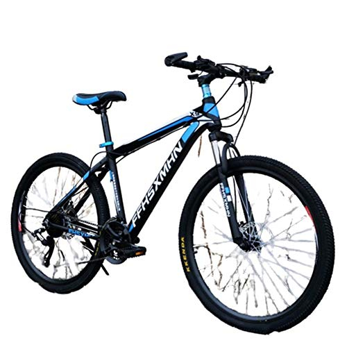 Best Prices! AHAVINTAGE.COM 24 Inch/26 Inch High Carbon Steel Hard Tail Mountain Bike, Hybrid Bike w...