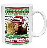 teesquare1st Christmas Proboscis Monkey 11oz Tazza da Caffe Natalizia/Tazza di Natale