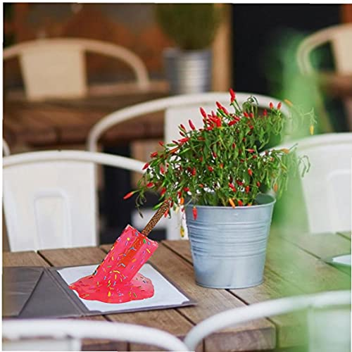 Murezima Fusión Lollipop Escultura Resina Transparente Helado Estatua Miniatura para Escritorio Decoración Rojo Decorativo Libro Artesanía Decoración