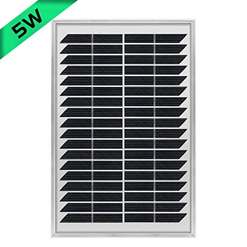 JoaSinc 5W Monokristallin Solarmodul Solarpanel Mono 5W ideal für Garten Wohnmobil Caravan (Einzelverpack)