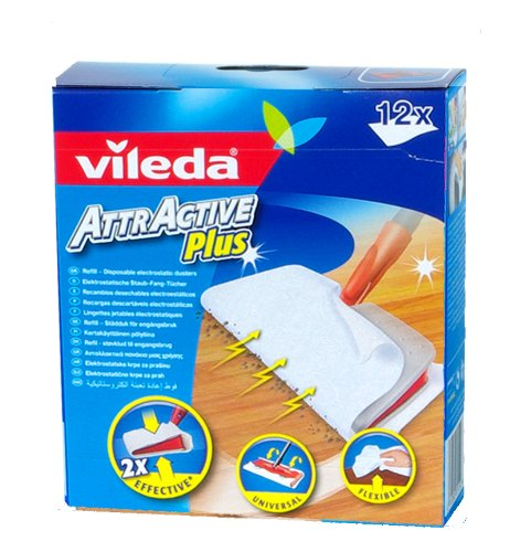 Vileda Attractive Plus Mop Refills 12 Pack