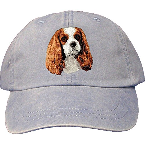 Cherrybrook Dog Breed Embroidered Adams Cotton Twill Caps - Periwinkle - Cavalier King Charles Spaniel