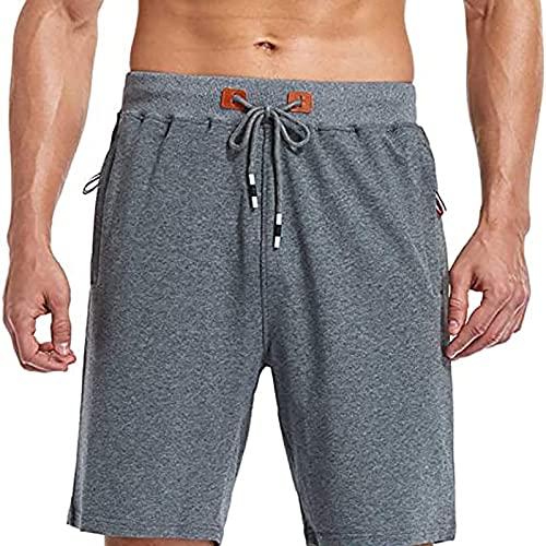 NXWL Bermudas Hombre Verano,Hombre Pantalones Cortos de Playa Beach Shorts,Gris,42