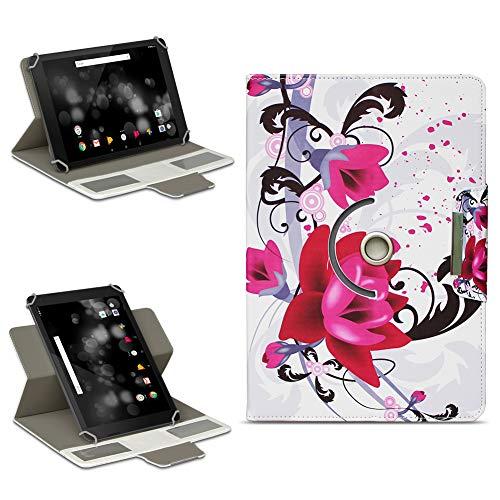 NAmobile TrekStor Primetab P10 Tasche Hülle Schutzhülle Tablet 360° Drehbar Case Cover, Farben:Motiv 8
