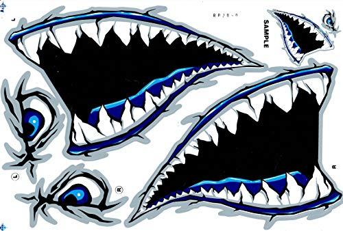 DD Hai Maul Augen Haimaul Zähne Rachen Schlund Sticker Aufkleber Folie 1 Blatt 270 mm x 180 mm wetterfest
