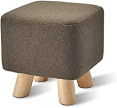 Yxsdd Stool Padded Foot Round Wood Round 4 Square Meter Ottoman is Anti-Dust Child Fabric Feeding Fabric by Lin Available ...