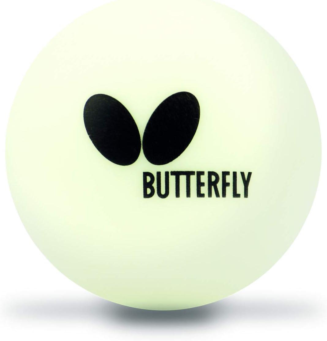 Butterfly 40mm Easy Ball (6PK) Table Tennis, White, 6 Pack