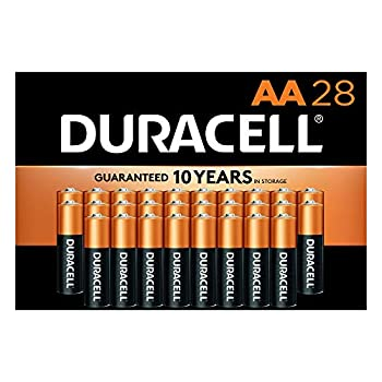 Duracell - CopperTop AA Alkaline Batteries - Long Lasting All-Purpose Double A Battery for Household and Business - 28 Count