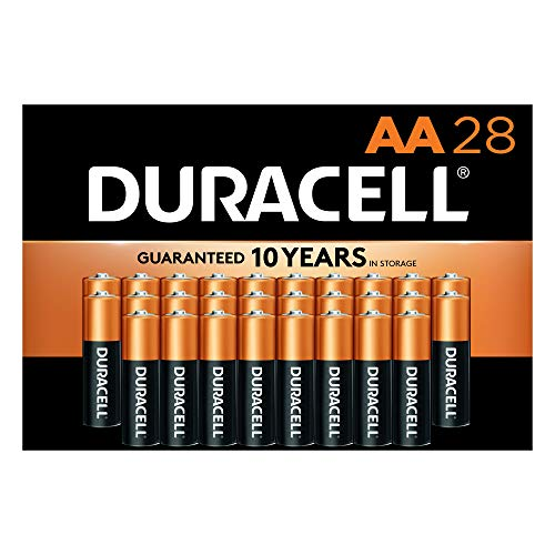 Duracell - CopperTop AA Alkaline Batteries - Long Lasting, All-Purpose Double A Battery for Household and Business - 28 Count