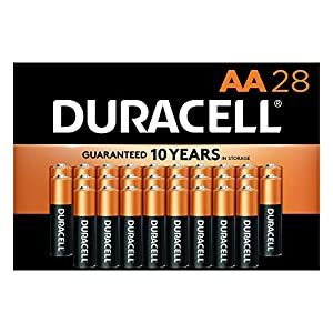 Duracell – CopperTop AA Alkaline Batteries – Long Lasting, All-Purpose Double A Battery for Household and Business – 28…
