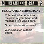 Beard Oil by Mountaineer Brand (4 fl oz total) | Premium 100% Natural Beard Conditioner (WV Timber | Two-Ounce 2 Pack) 5