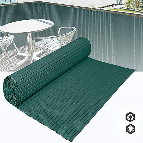 HENGMEI PVC Sichtschutzmatte Sichtschutzzaun - Zaun Sichtschutz Windschutz Blickdicht fur Garten, Balkon und Terrasse (1000x90cm, Grün)