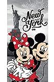 Disney 18TW176 Minnie et Mickey Mouse à New York Serviette de Bain 70 x 140 cm