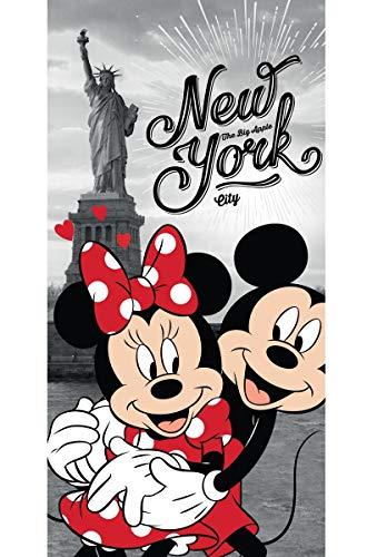 Disney 18TW176 Minnie und Micky Maus in New York Badetuch 70 x 140