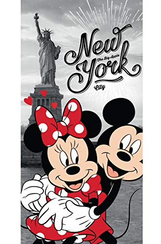 Disney 18TW176 Minnie und Micky Maus in New York Badetuch 70 x 140