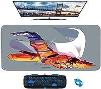 マウスパッド/ナルトアニメマウスパッド/ XLXXLゲーミングマウスパッド滑り止め/汚れ防止/防水マウスパッド-31.4インチx15.7インチ-A_700X300X3mm