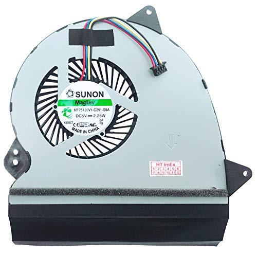 Ventilador de ventilador compatible con ASUS ROG GL552VL-CN028T, GL552VL-DM023T, GL552VL-3B, GL552VX-1A, GL552VX-4B, GL552VX-CN063D, GL552JX-CN156T, GL552JX-CN156H