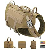 PET ARTIST Tactical Dog Harness for Hiking Training, No Pull Vest Harness for Medium Large Dogs,...