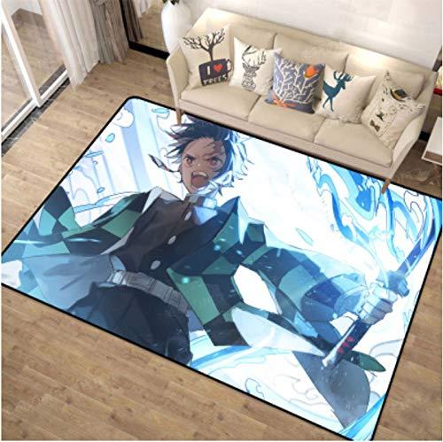 Teppich Teppich Anime Cartoon Ghost Blade Wohnzimmer Schlafzimmer Bett Studie Restaurant Kaffee Kinderzimmer Matte Anime Cartoon Badezimmer Rutschfest Wildbodenmatte 160 * 280Cm