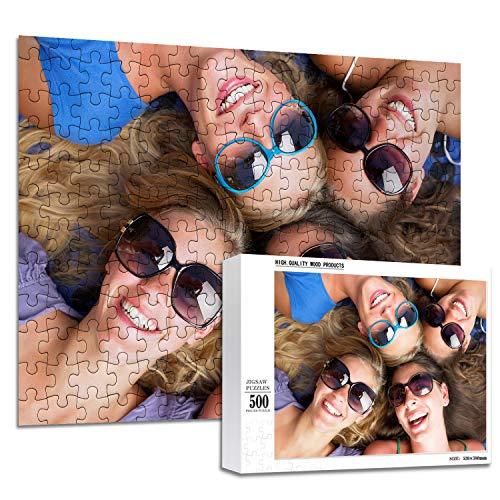 haellerry Benutzerdefinierte Puzzles aus Fotos 1000 500 300 200 Stück Personalisiertes Bildpuzzle für Erwachsene Jugendliche (500 Stück)