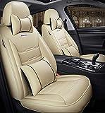 Asiento de coche, funda protectora PU impermeable Asientos de Piel Cubierta de coches Cojines del sistema completo (5 plazas), Universal for BMW 1 3 5 7 Serie X1 / X3 / X5 / X6 Almohadilla de protecci