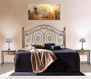 DECORACIÓN BELTRÁN Têtes de lit en fer forgé avec barres en bois: modèle CAPRI.