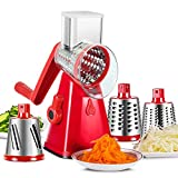 3 in 1 Vegetable Grater - Hand Held Cheese Spiralizer Spiral Slicer Handheld