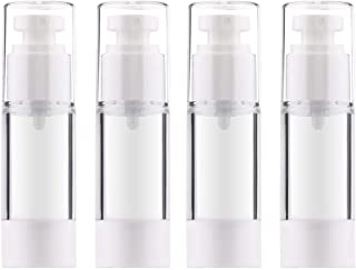 white airless pump bottle